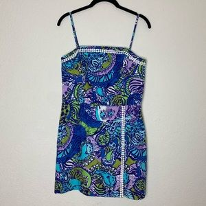 Lilly Pulitzer Cattitude Bodycon Strap Dress